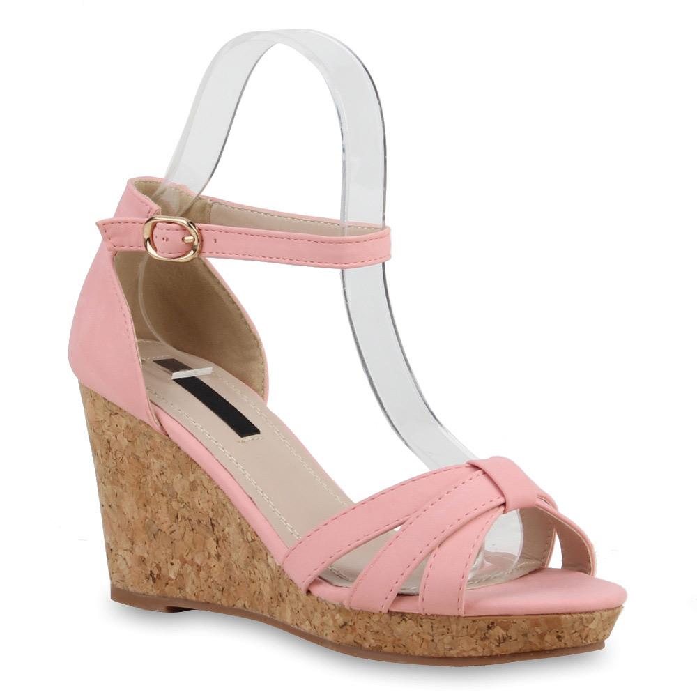 damen sandaletten kork keilabsatz wedges high heels. Black Bedroom Furniture Sets. Home Design Ideas
