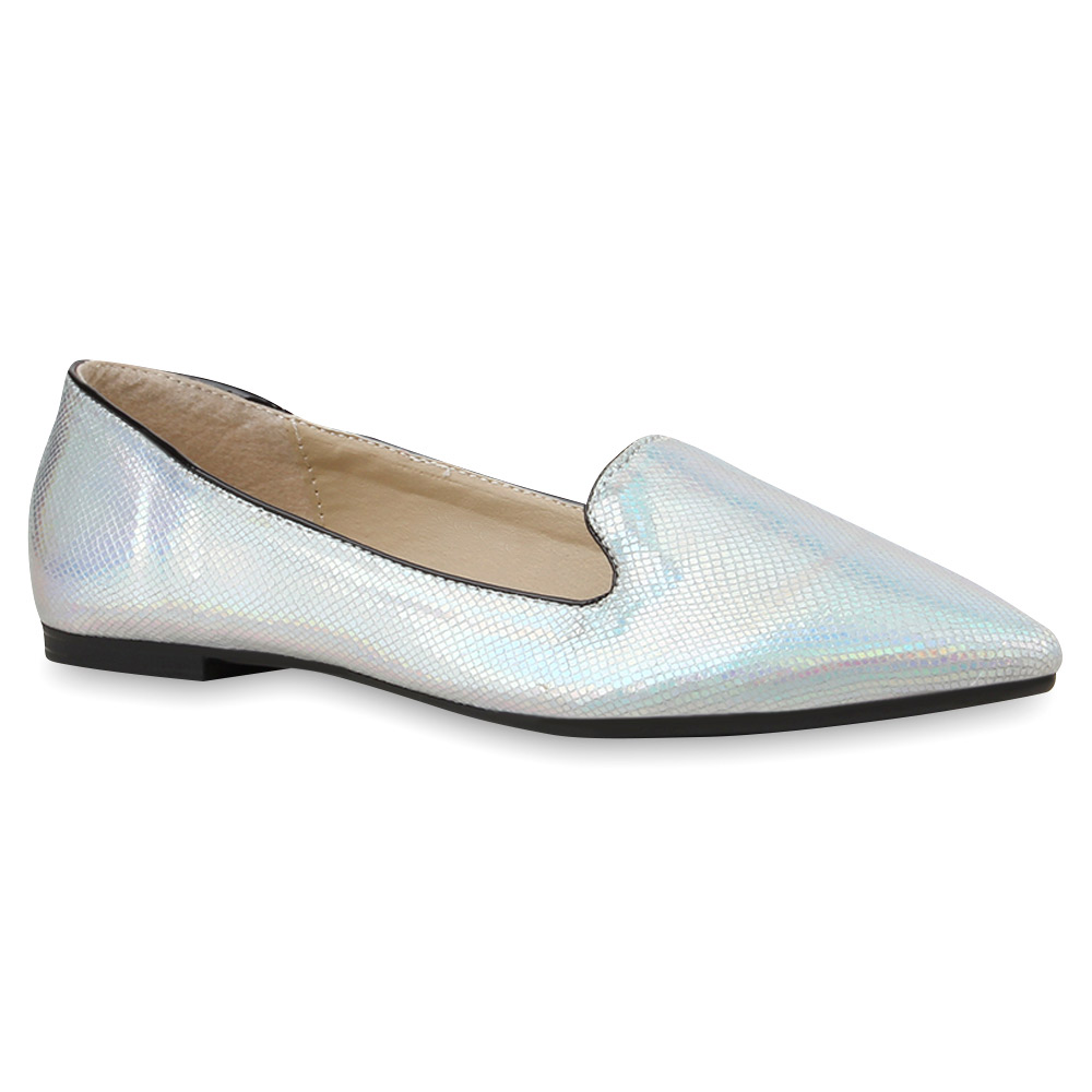 spitze damen ballerinas loafers prints flats bequeme schuhe 76195 top ebay. Black Bedroom Furniture Sets. Home Design Ideas
