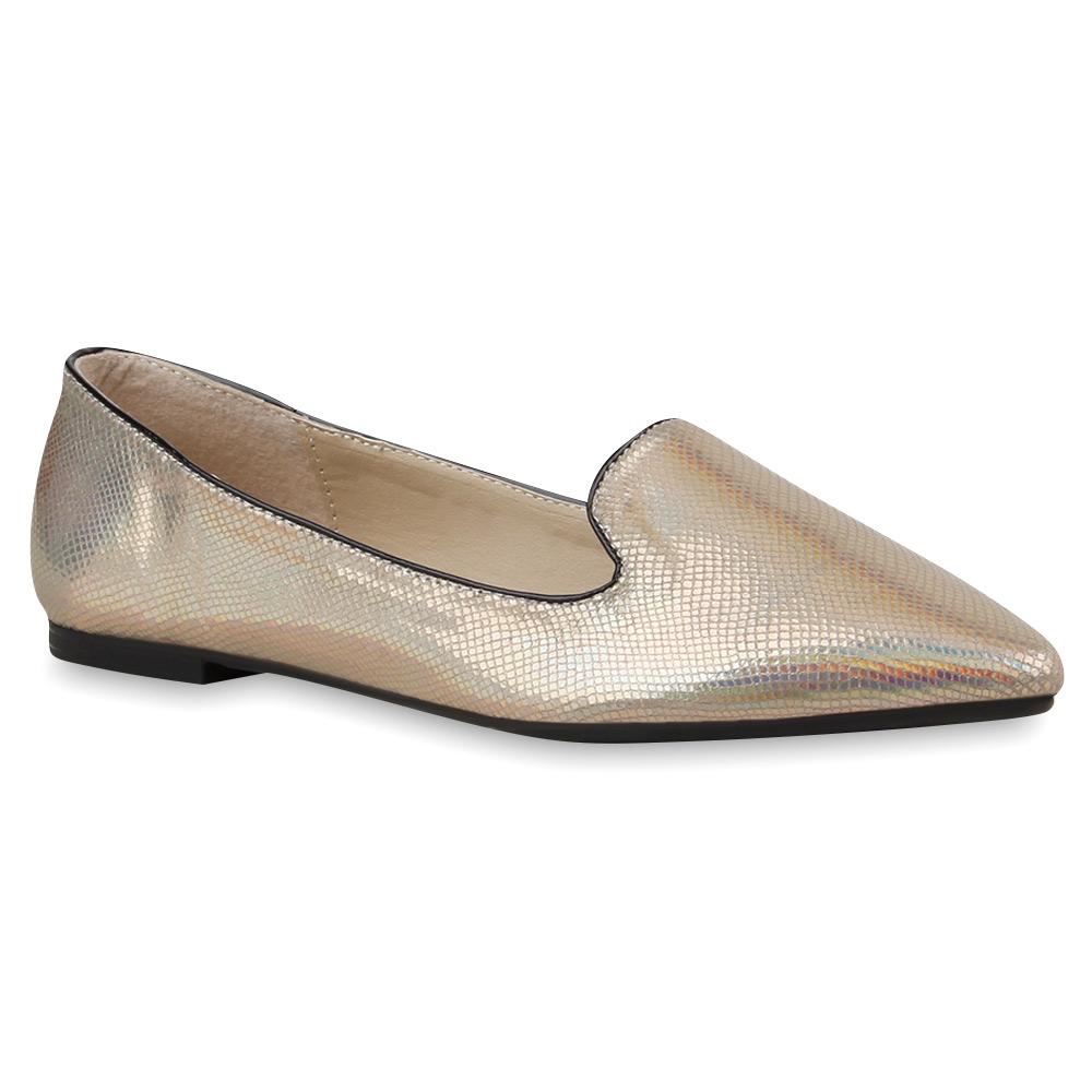 spitze damen ballerinas loafers prints flats bequeme schuhe 76195 ebay. Black Bedroom Furniture Sets. Home Design Ideas