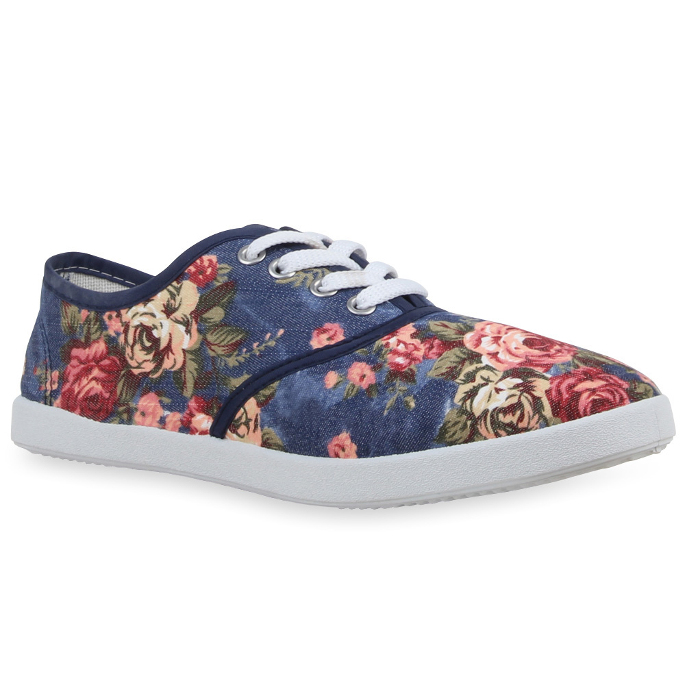 damen herren low sneakers blumen prints schn rer bequeme. Black Bedroom Furniture Sets. Home Design Ideas