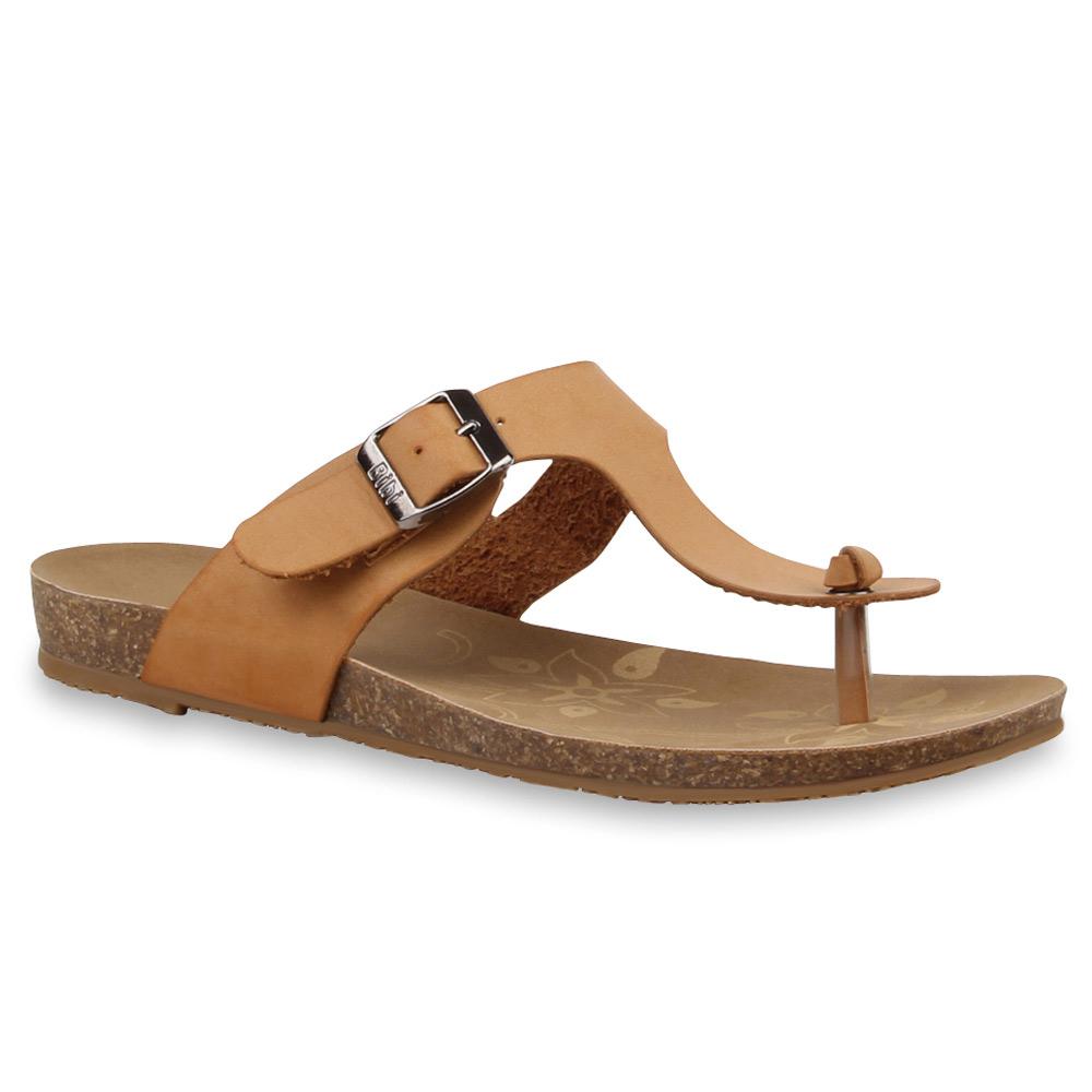 Damen-Komfort-Sandalen-Schnallen-Bequeme-Sommer-Schuhe-76519-Top