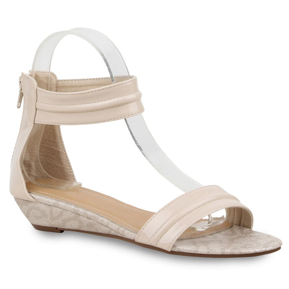 Neu Damen Riemchensandalen Lack Bequeme Sommer Schuhe 176-570