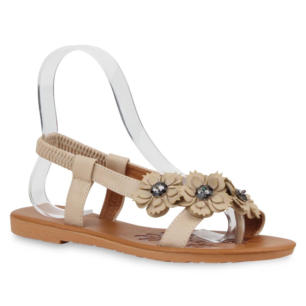bequeme damen sandalen blumen zehentrenner sommer schuhe. Black Bedroom Furniture Sets. Home Design Ideas