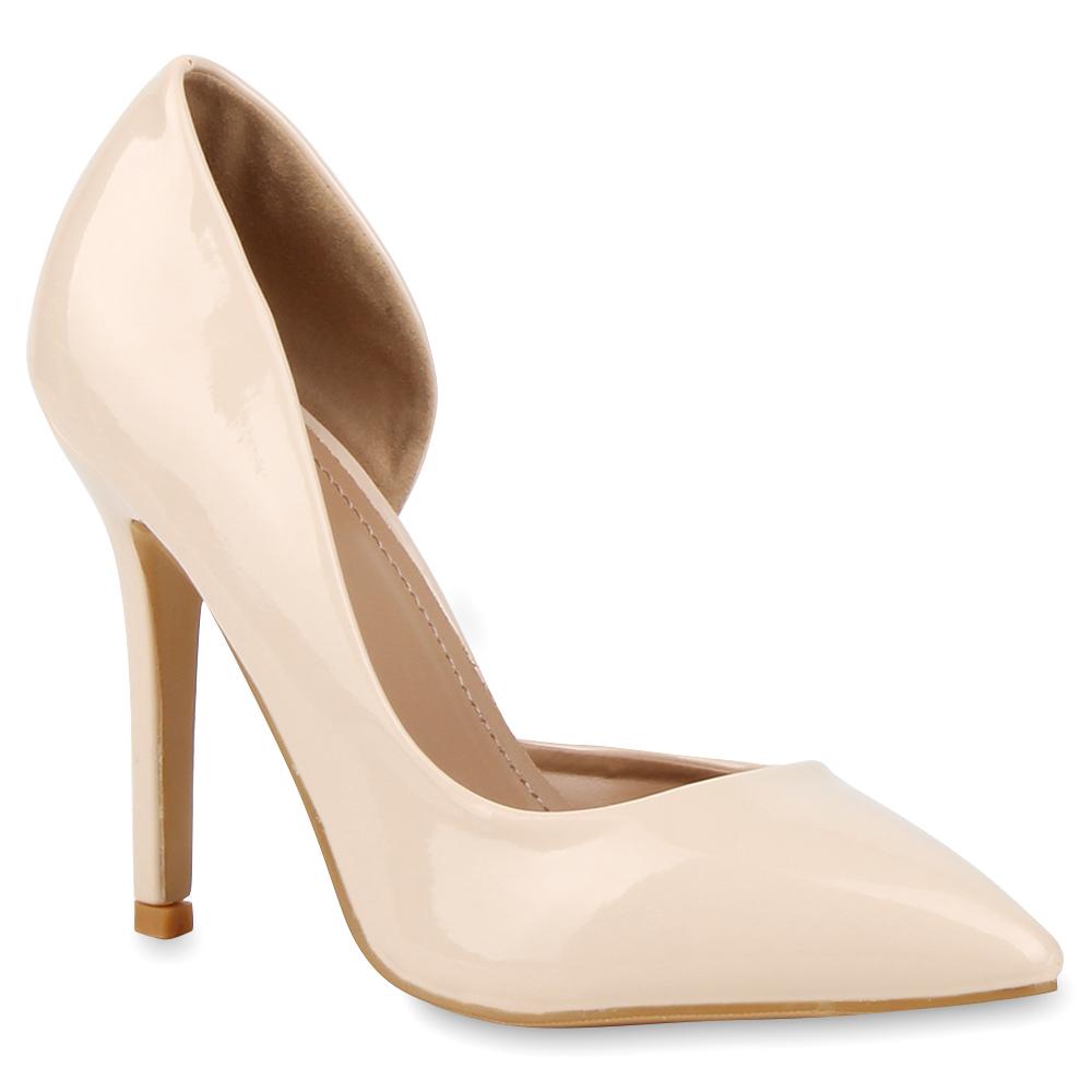 damen pumps spitze elegant lack schuhe high heels stilettos 76757 ebay. Black Bedroom Furniture Sets. Home Design Ideas