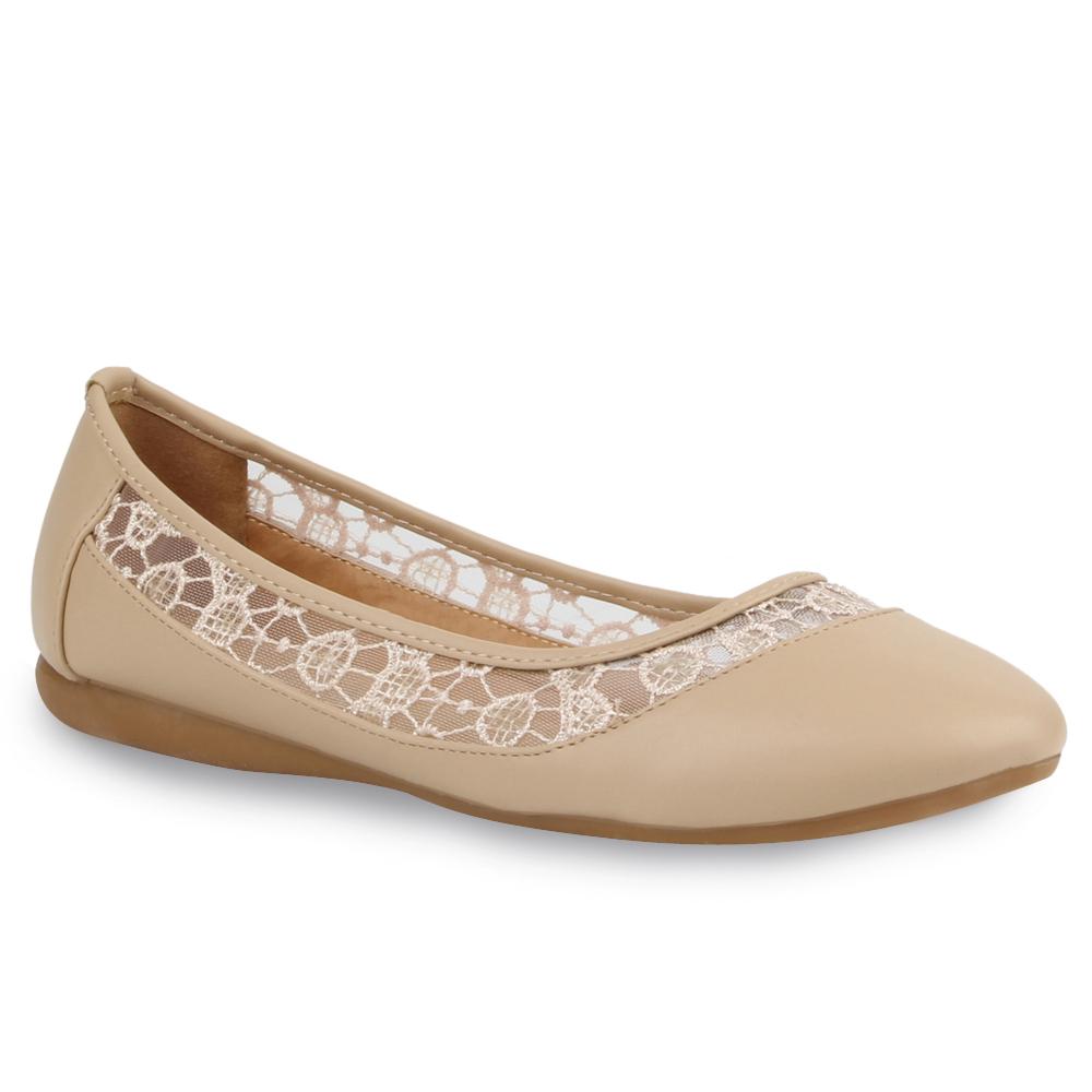 damen ballerinas spitze pailletten slipper schuhe flats bergr en 76823 trendy ebay. Black Bedroom Furniture Sets. Home Design Ideas