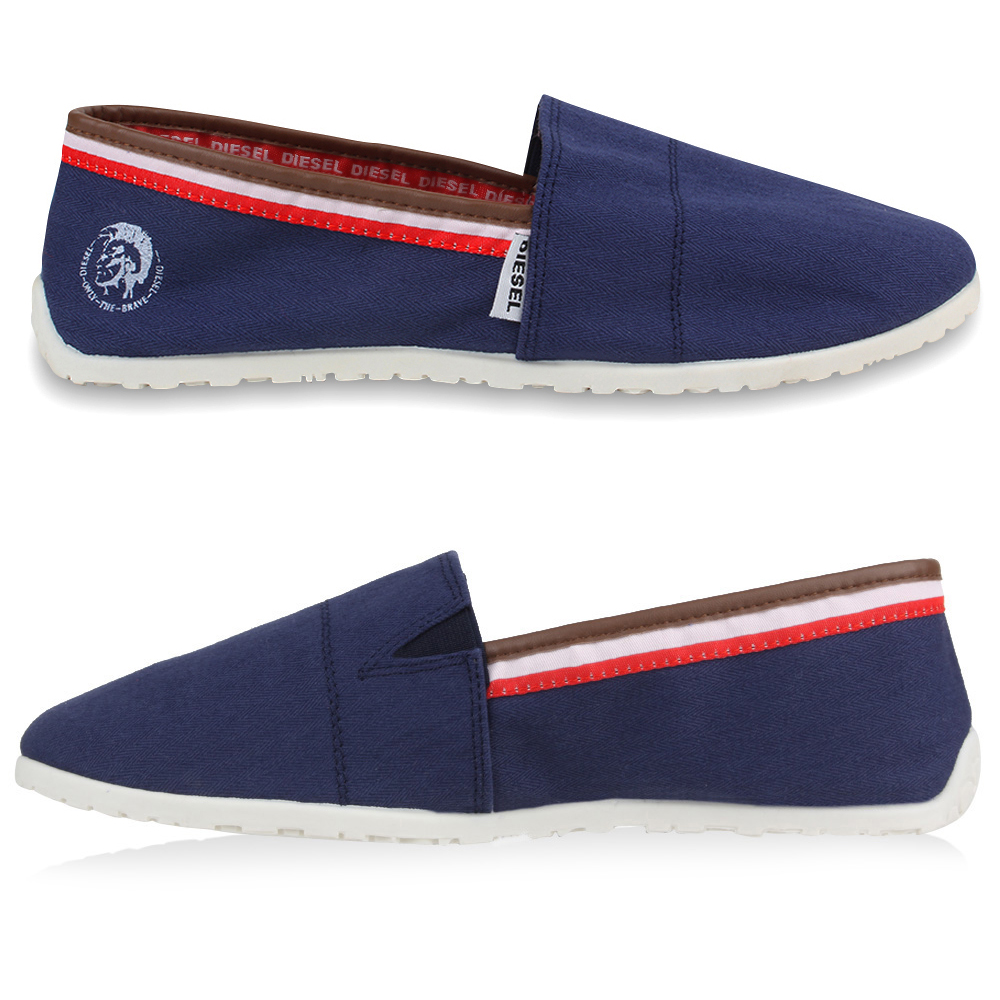 diesel herren sneakers espadrilles slipper sommer schuhe slip on 890101 neu ebay. Black Bedroom Furniture Sets. Home Design Ideas