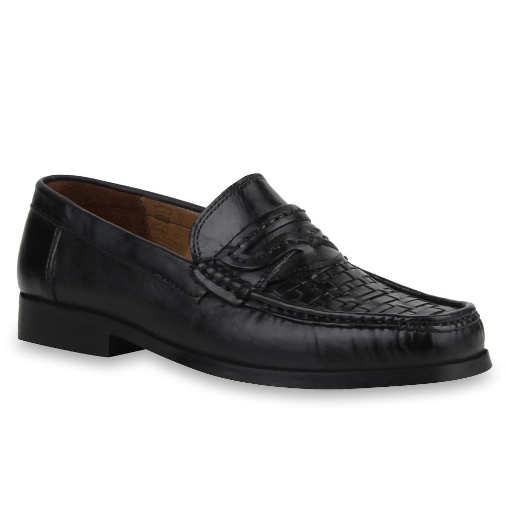 klassische herren leder slipper business schuhe schwarz. Black Bedroom Furniture Sets. Home Design Ideas