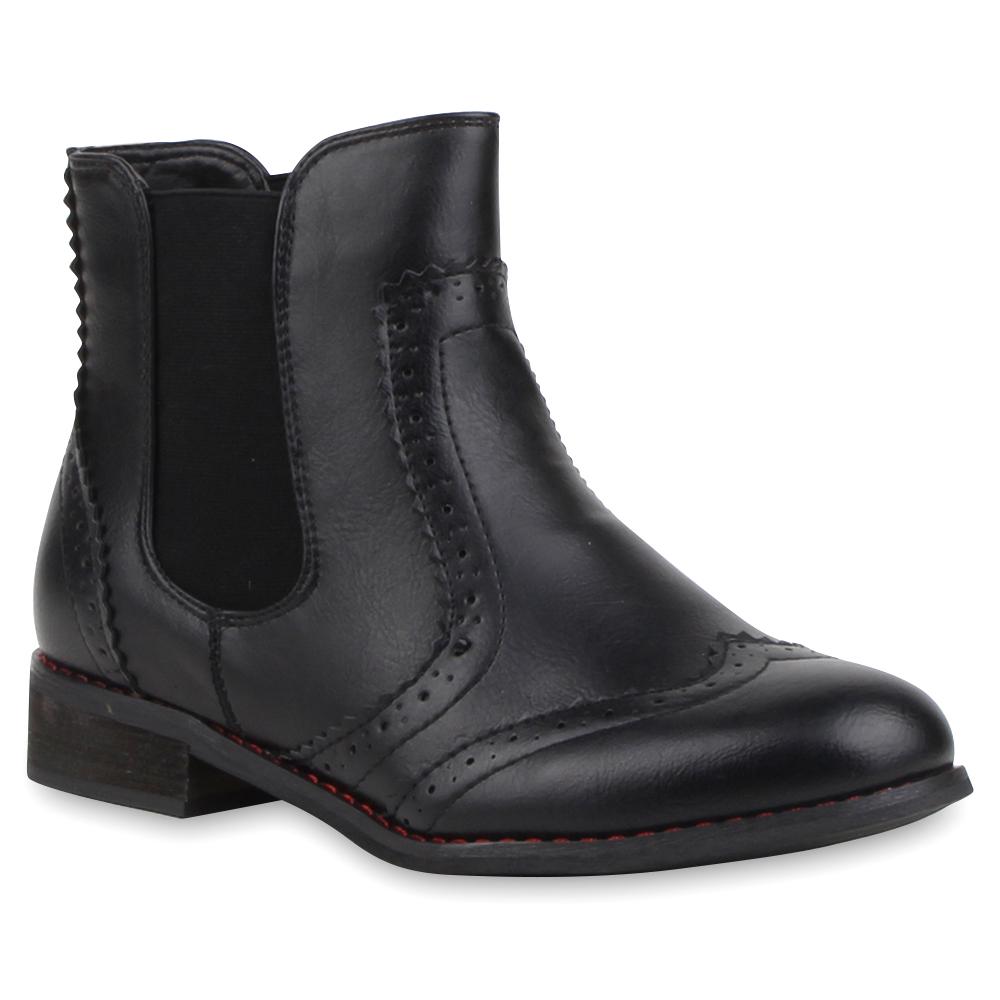 spitze damen stiefeletten chelsea boots holzoptik absatz. Black Bedroom Furniture Sets. Home Design Ideas