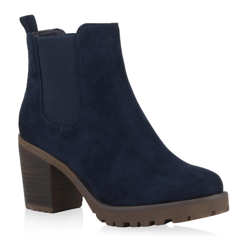 Warme Damen Stiefeletten Outdoor Profilsohle Boots 890405 New Look