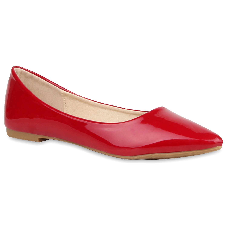 Spitze Damen Ballerinas Lack Slipper Flats Schuhe 77149 New Look