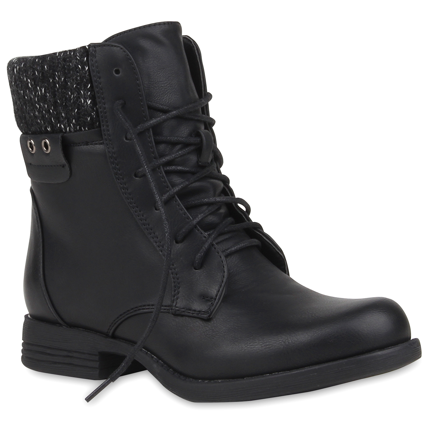 damen stiefeletten worker boots strick stiefel outdoor. Black Bedroom Furniture Sets. Home Design Ideas