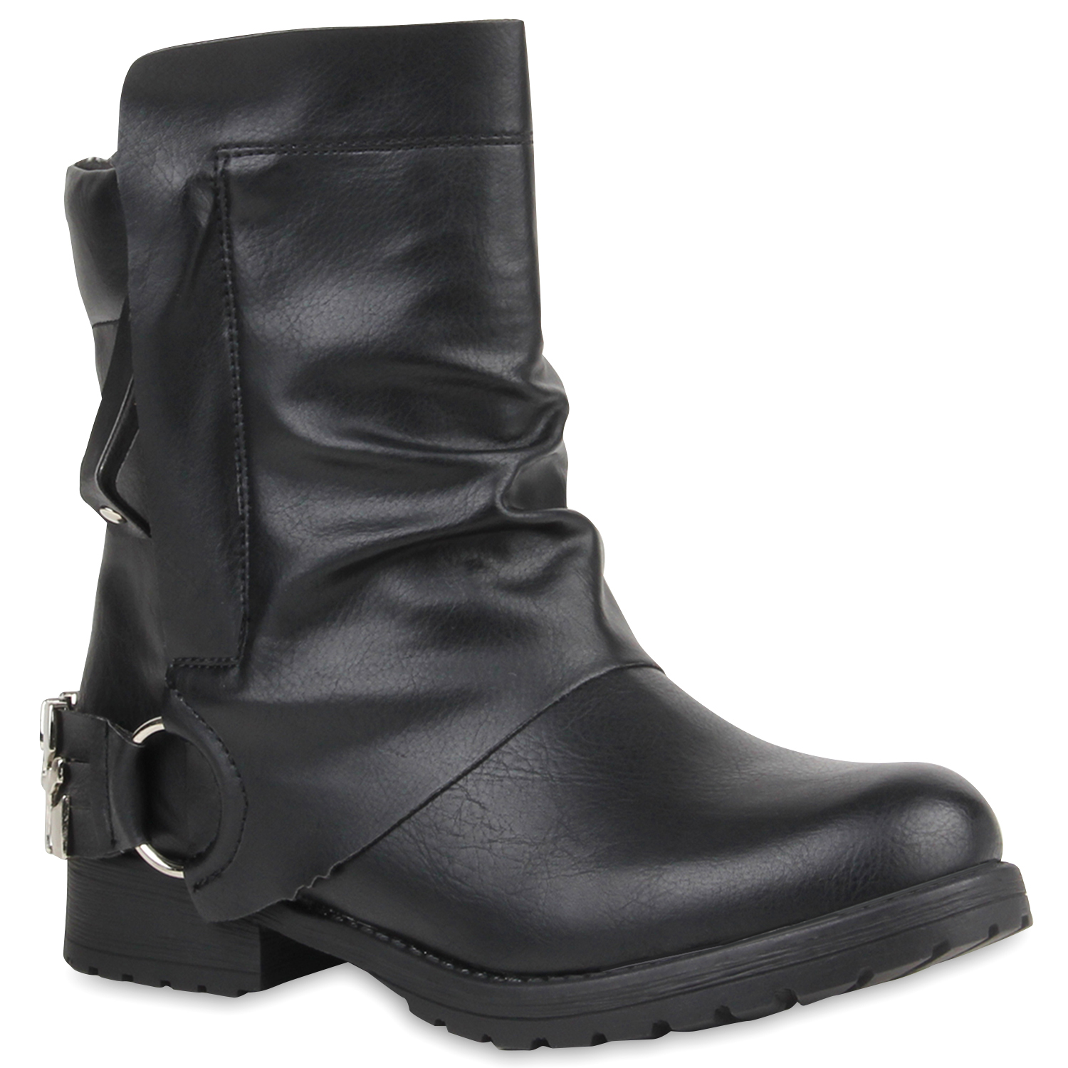 bequeme damen stiefeletten cowboy boots western schuhe 75294 ebay. Black Bedroom Furniture Sets. Home Design Ideas