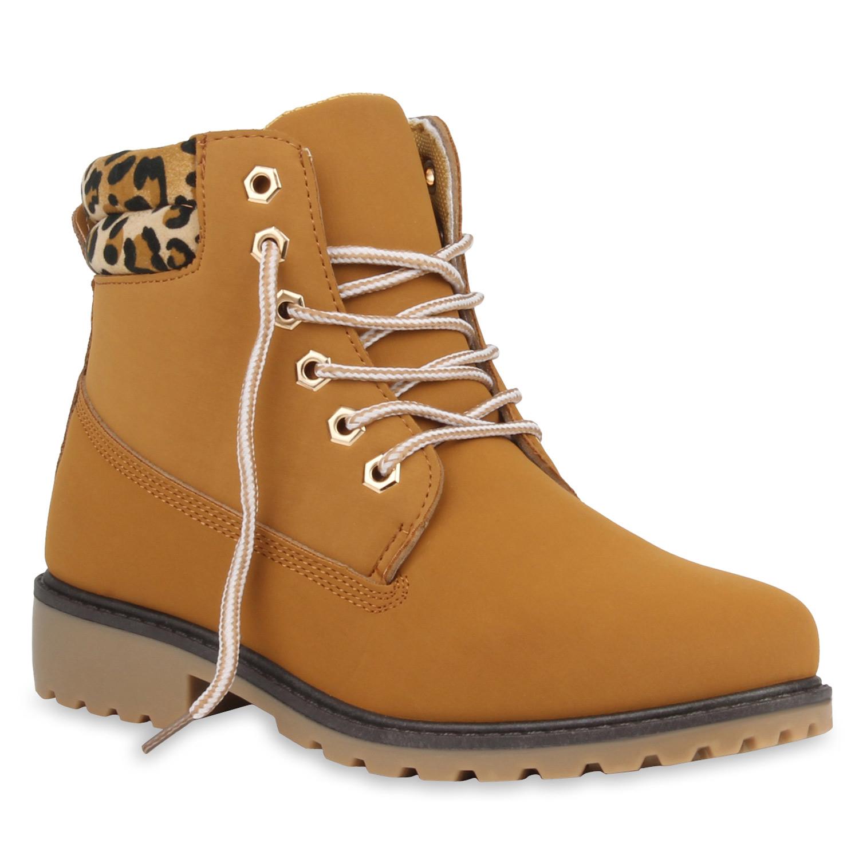 Neu Damen Stiefeletten Worker Boots Outdoor Schnürstiefel Schuhe 177-175