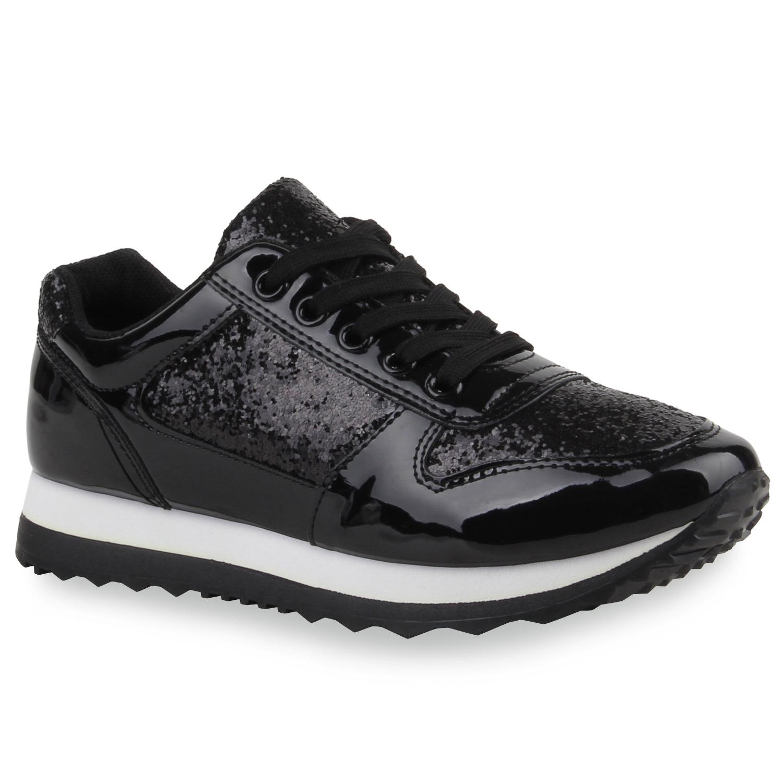 Damen Sportschuhe Glitzer Runners Laufschuhe Sneakers 77519 | eBay