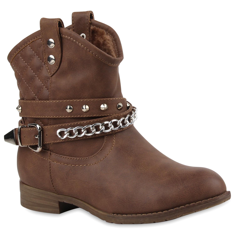 warm gef tterte damen stiefeletten cowboystiefel boots. Black Bedroom Furniture Sets. Home Design Ideas