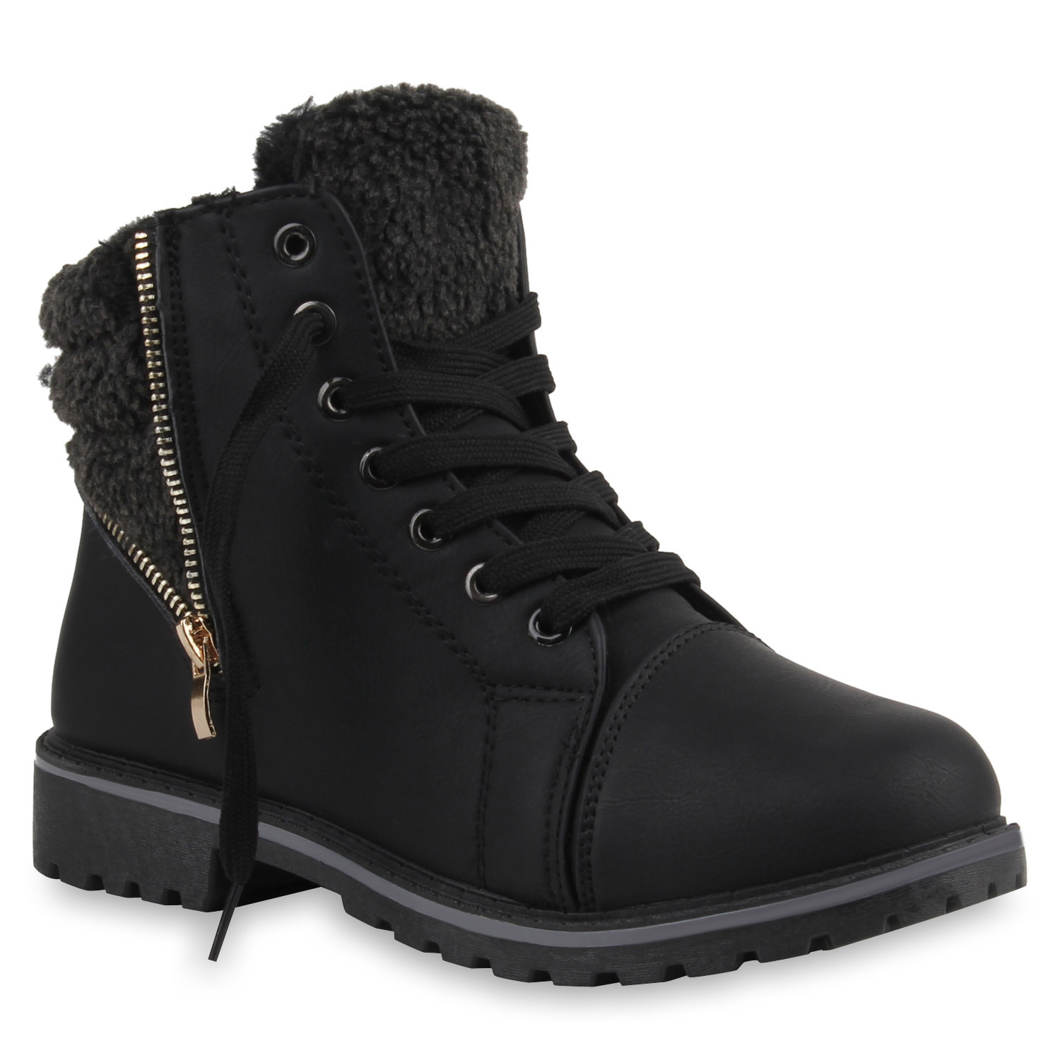 damen outdoor boots kunstpelz winter stiefeletten 890525 warm gef ttert ebay. Black Bedroom Furniture Sets. Home Design Ideas