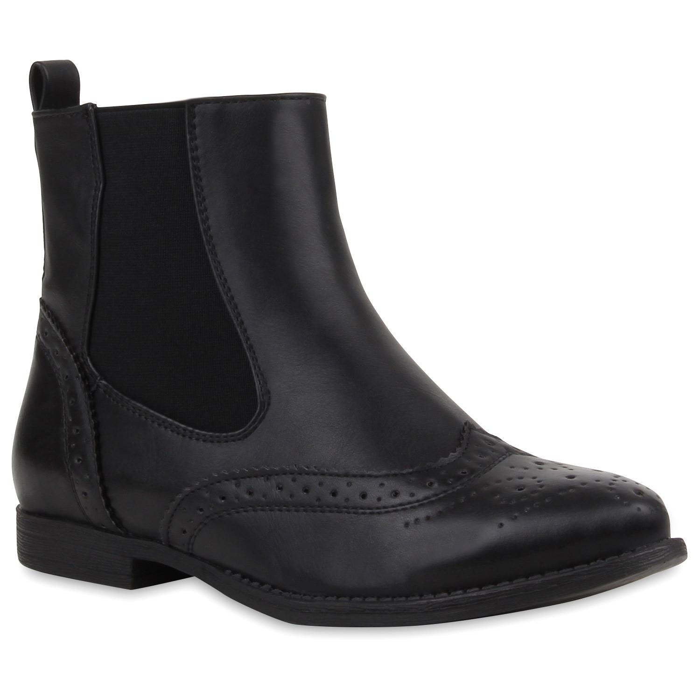 damen stiefeletten chelsea boots glitzer schuhe 77120 new. Black Bedroom Furniture Sets. Home Design Ideas