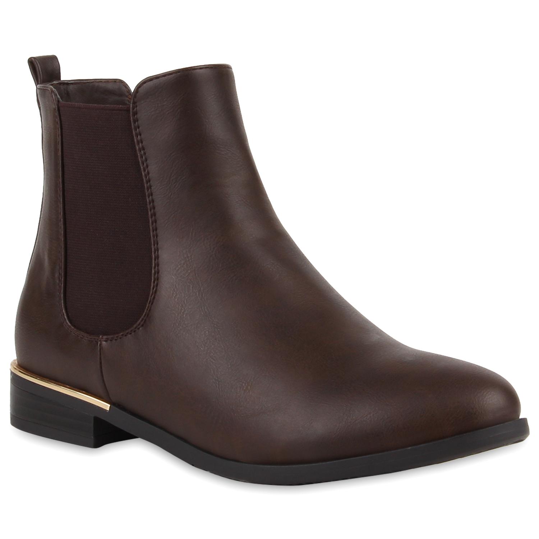 gef tterte damen stiefeletten chelsea boots metallic 78281. Black Bedroom Furniture Sets. Home Design Ideas