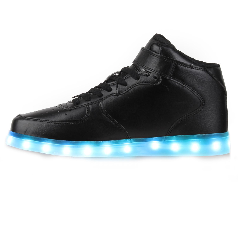blinkende herren sneakers high led light farbwechsel schuhe 78314 led licht. Black Bedroom Furniture Sets. Home Design Ideas