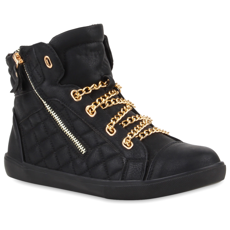 damen high top sneakers strass zipper sportschuhe 99642 trendy. Black Bedroom Furniture Sets. Home Design Ideas