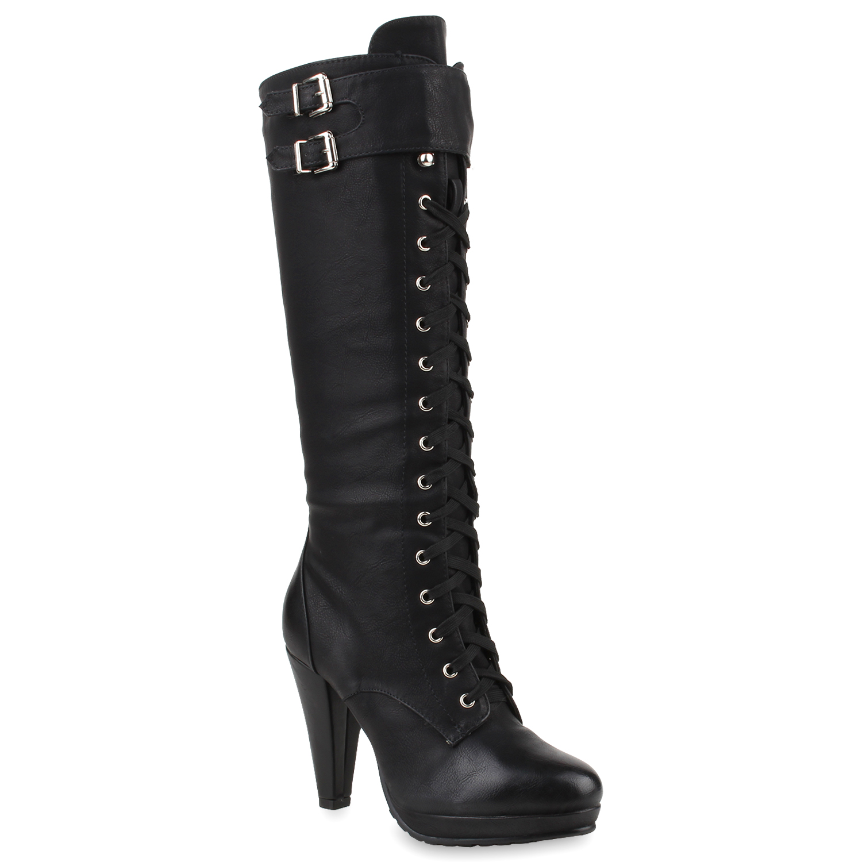 winter stiefel damen boots schn rstiefeletten schuhe 78539. Black Bedroom Furniture Sets. Home Design Ideas