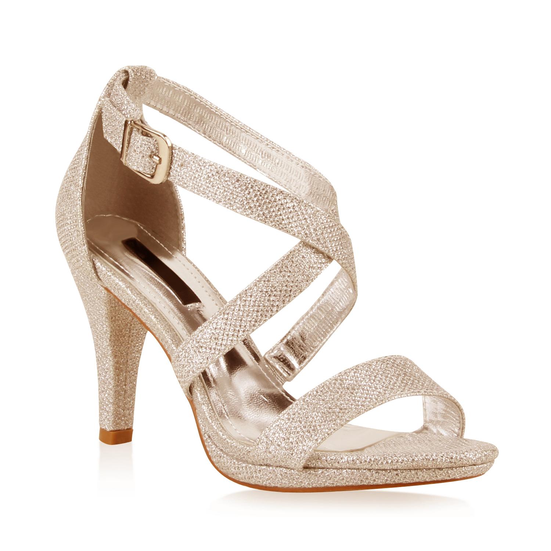 elegante damen sandaletten high heels 70875. Black Bedroom Furniture Sets. Home Design Ideas