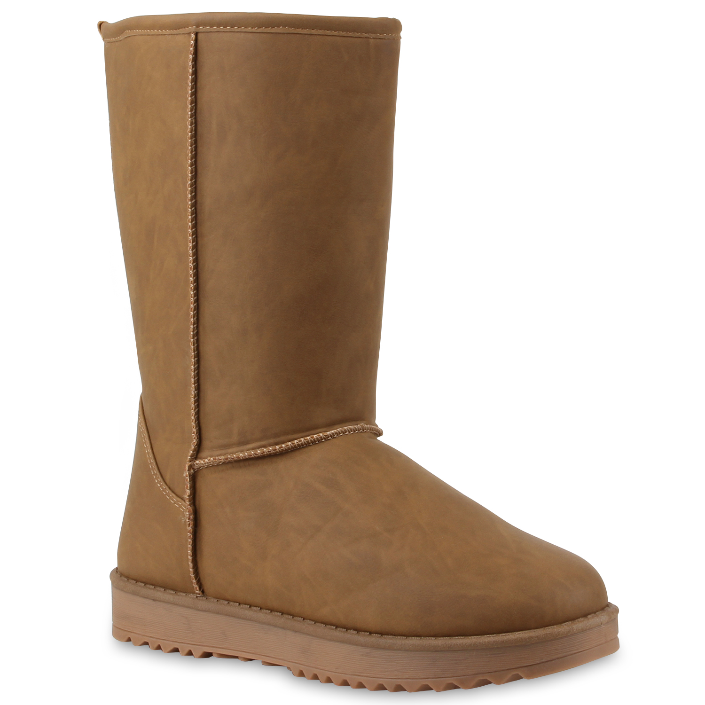 bequeme damen schlupfstiefel winter boots stiefel gef ttert 70354 gr 36 41 ebay. Black Bedroom Furniture Sets. Home Design Ideas