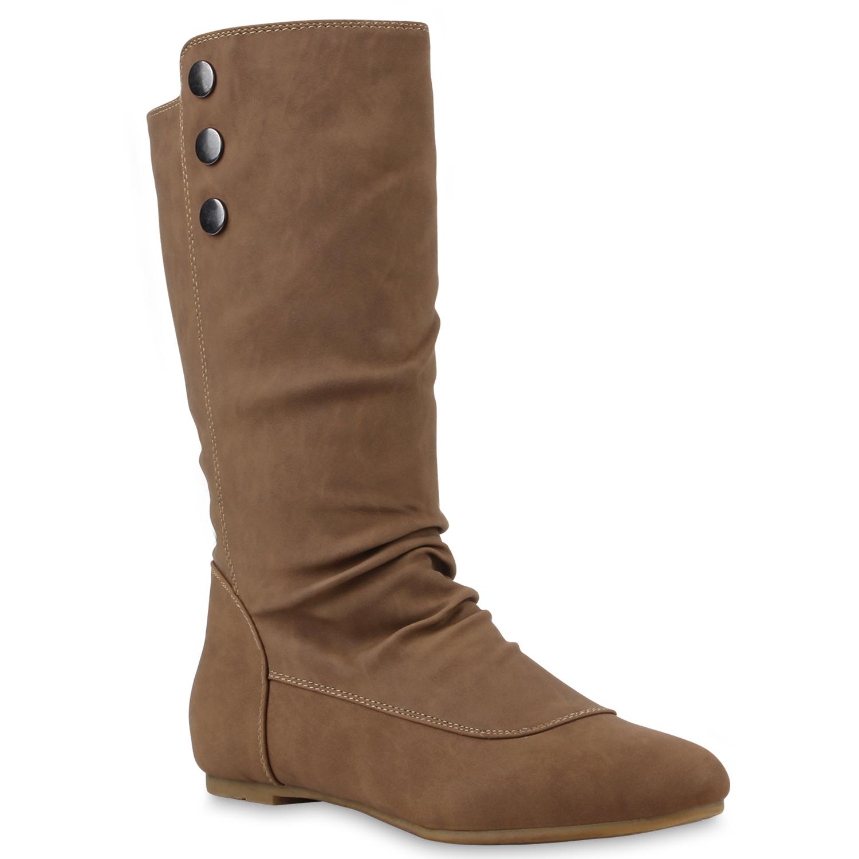 warm gef tterte damen stiefel flache boots schlupfstiefel. Black Bedroom Furniture Sets. Home Design Ideas