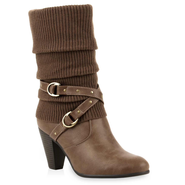 damen cowboy stiefeletten western boots stiefel lederoptik 73718 top. Black Bedroom Furniture Sets. Home Design Ideas