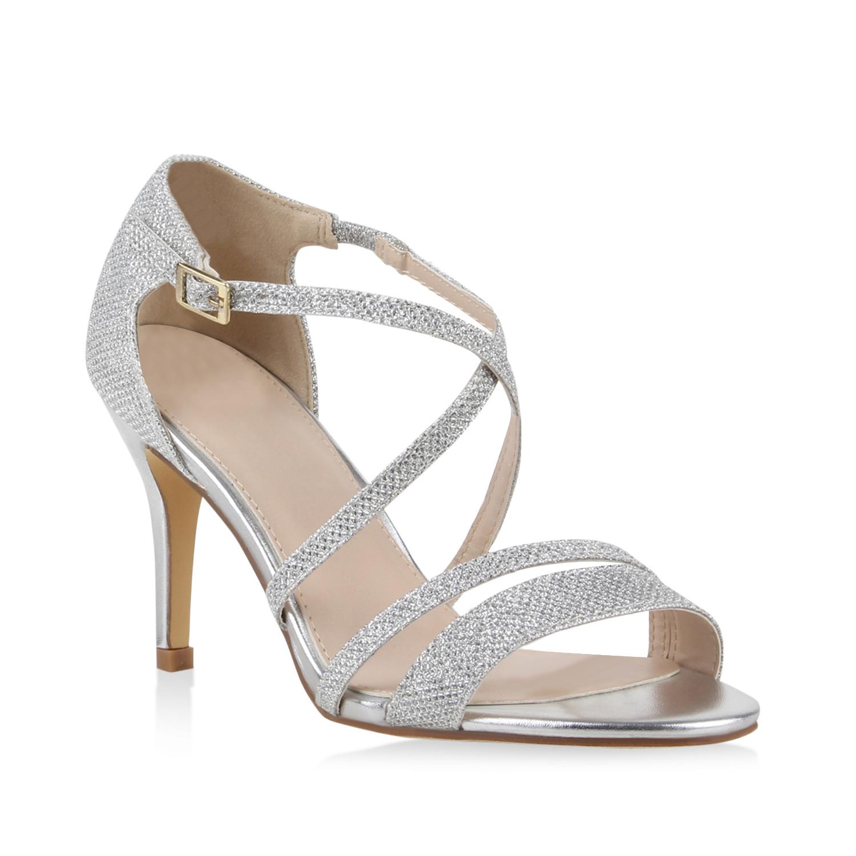 elegante damen sandaletten high heels sommerschuhe 890719. Black Bedroom Furniture Sets. Home Design Ideas