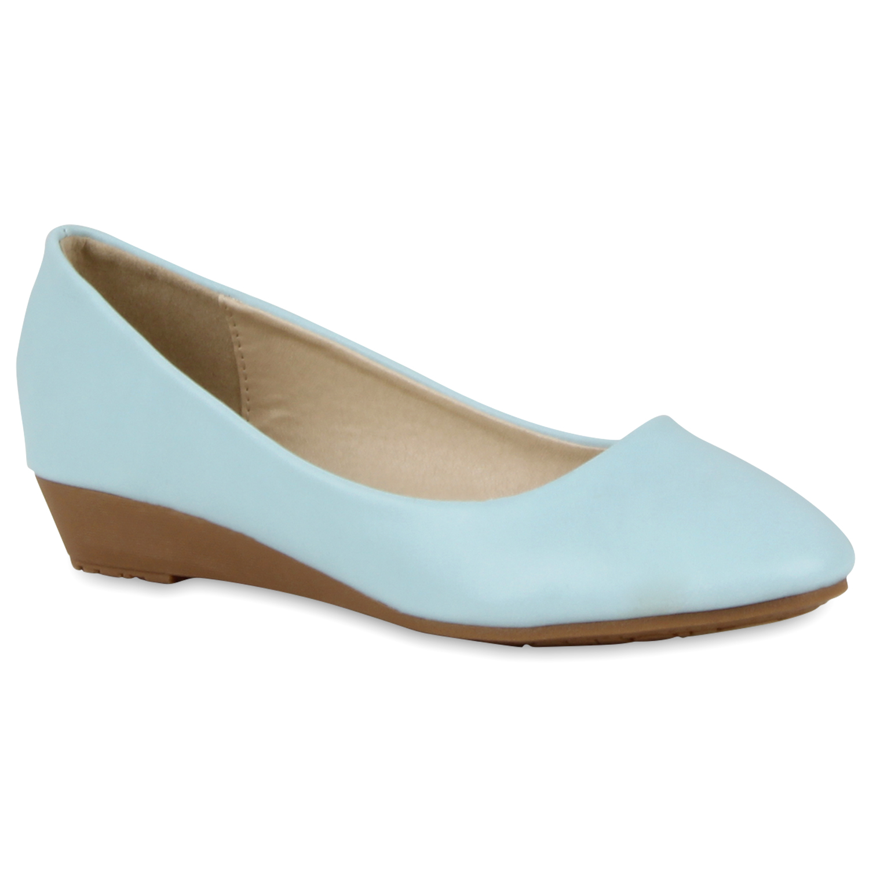 damen ballerinas keilabsatz pumps slipper 70969 lederoptik. Black Bedroom Furniture Sets. Home Design Ideas