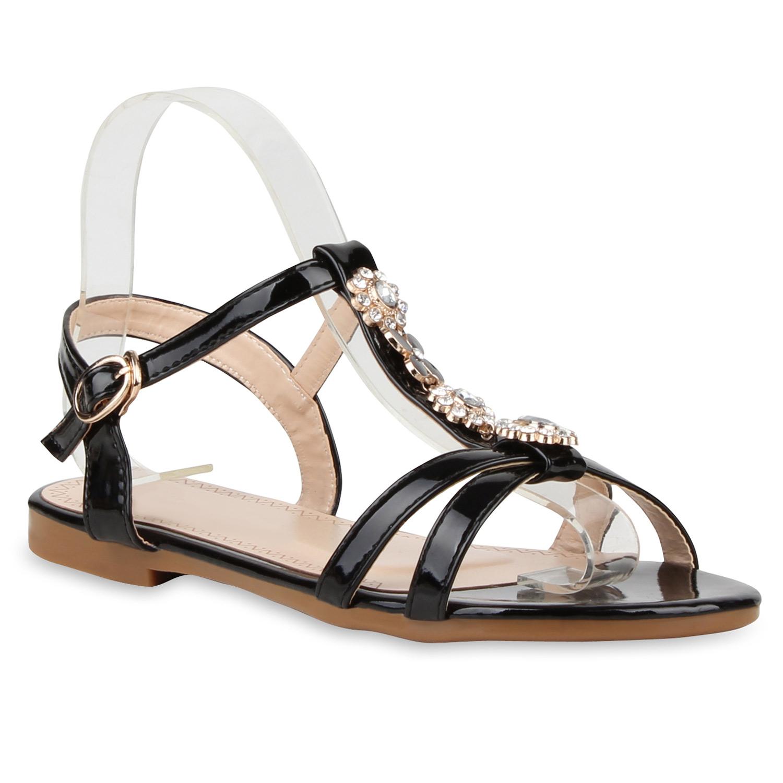 damen riemchensandalen blumen sandalen strass sommer. Black Bedroom Furniture Sets. Home Design Ideas