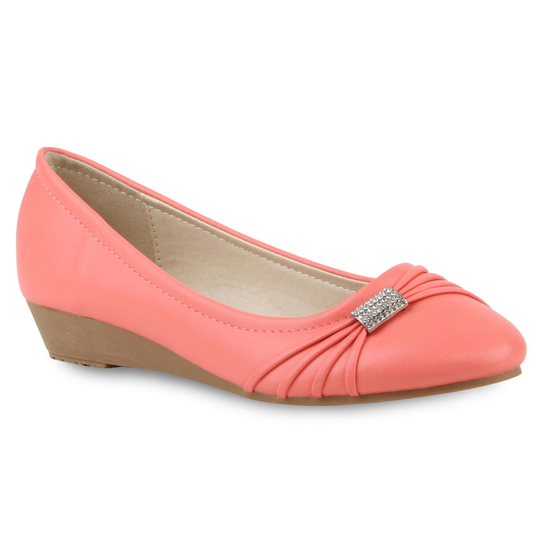 damen ballerinas keilabsatz pumps slipper 70969 flats. Black Bedroom Furniture Sets. Home Design Ideas