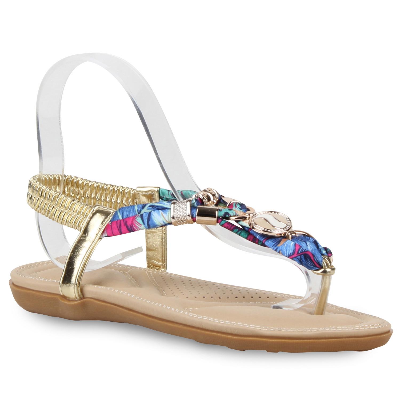 damen dianetten ketten bunte prints sandalen sommer schuhe 810026 ebay. Black Bedroom Furniture Sets. Home Design Ideas