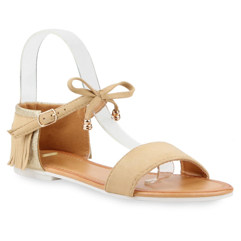 flache damen glitzer sandalen fransen riemchensandalen. Black Bedroom Furniture Sets. Home Design Ideas