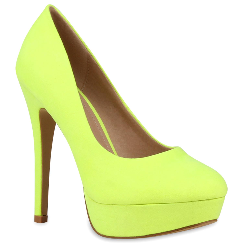 plateau damen pumps high heels schuhe lederoptik 890716. Black Bedroom Furniture Sets. Home Design Ideas