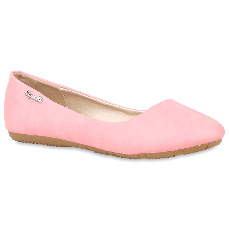 Klassische Damen Ballerinas Lederoptik Flats Modisch Schuhe 810283 Trendy