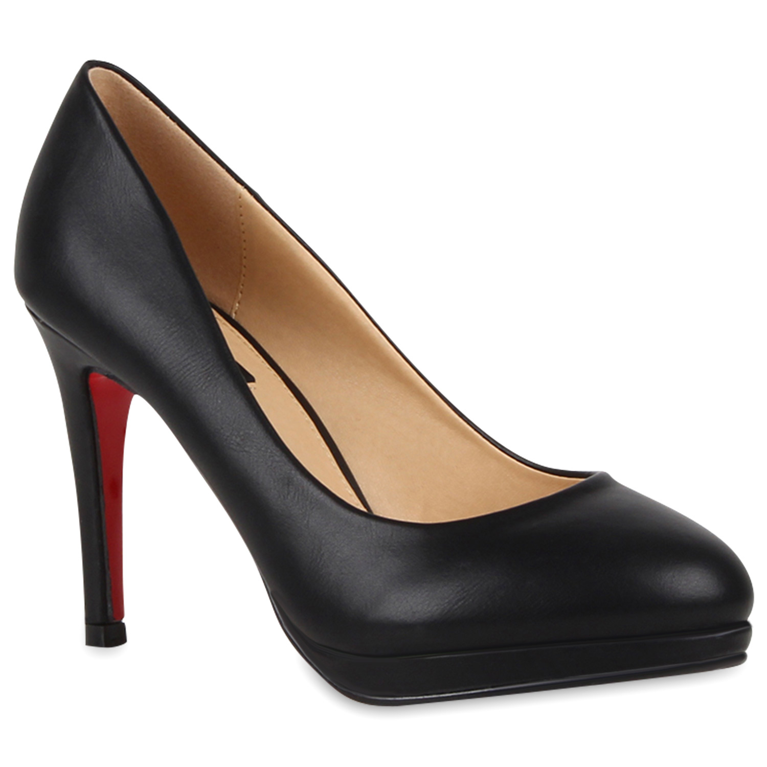 damen plateau pumps high heels lederoptik stiletto schuhe 76586 ebay. Black Bedroom Furniture Sets. Home Design Ideas