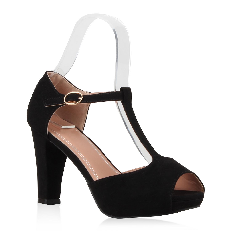 neu damen riemchensandaletten t strap plateau sandaletten. Black Bedroom Furniture Sets. Home Design Ideas