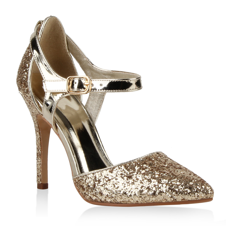 damen high heels lack pumps glitzer stilettos party schuhe. Black Bedroom Furniture Sets. Home Design Ideas