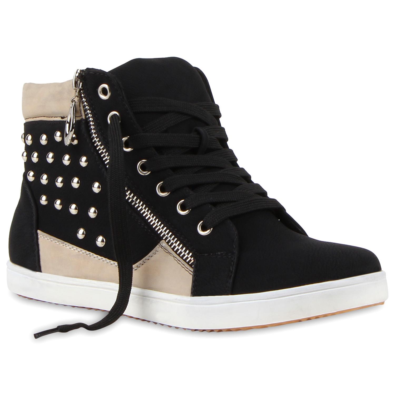 damen sneakers high zipper turnschuhe helle sohle schn rer. Black Bedroom Furniture Sets. Home Design Ideas