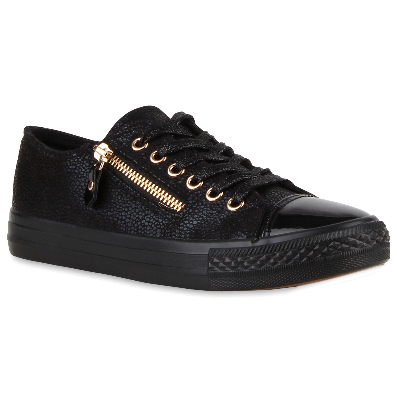 damen sneakers low metallic turnschuhe zipper helle sohle 810912 ebay. Black Bedroom Furniture Sets. Home Design Ideas