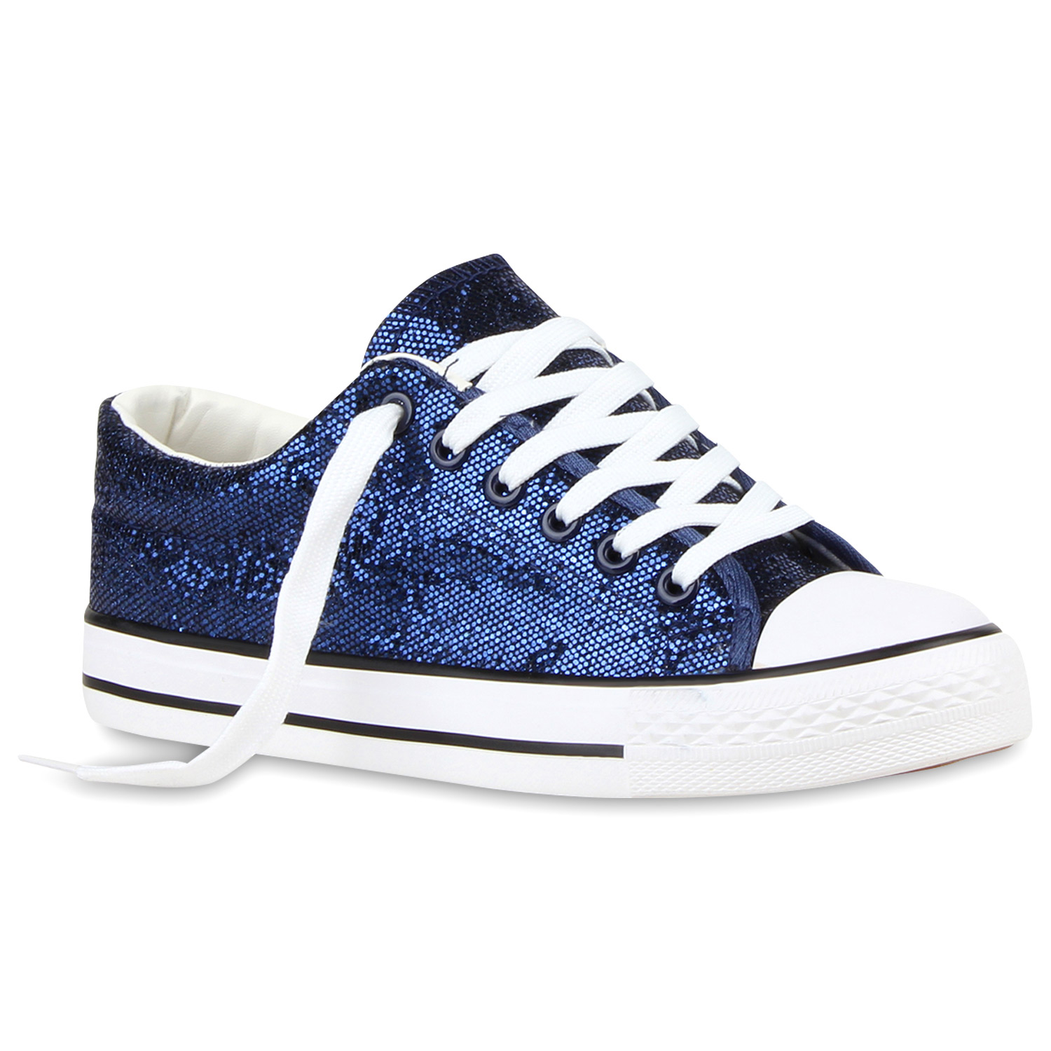 modische damen glitzer sneakers low canvas freizeit schuhe 810996 new look ebay. Black Bedroom Furniture Sets. Home Design Ideas
