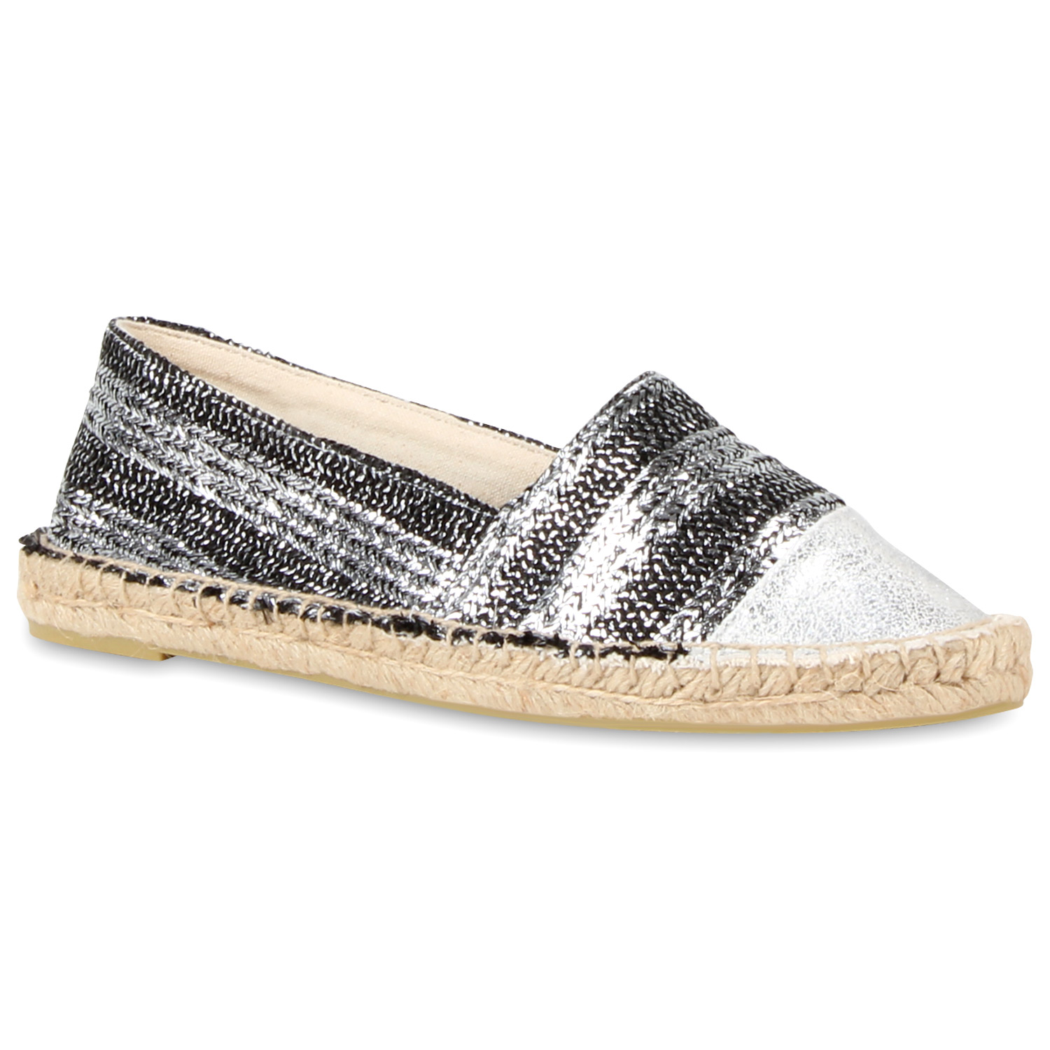 modische damen bast slipper glitzer espadrilles sommer schuhe 811264 ebay. Black Bedroom Furniture Sets. Home Design Ideas