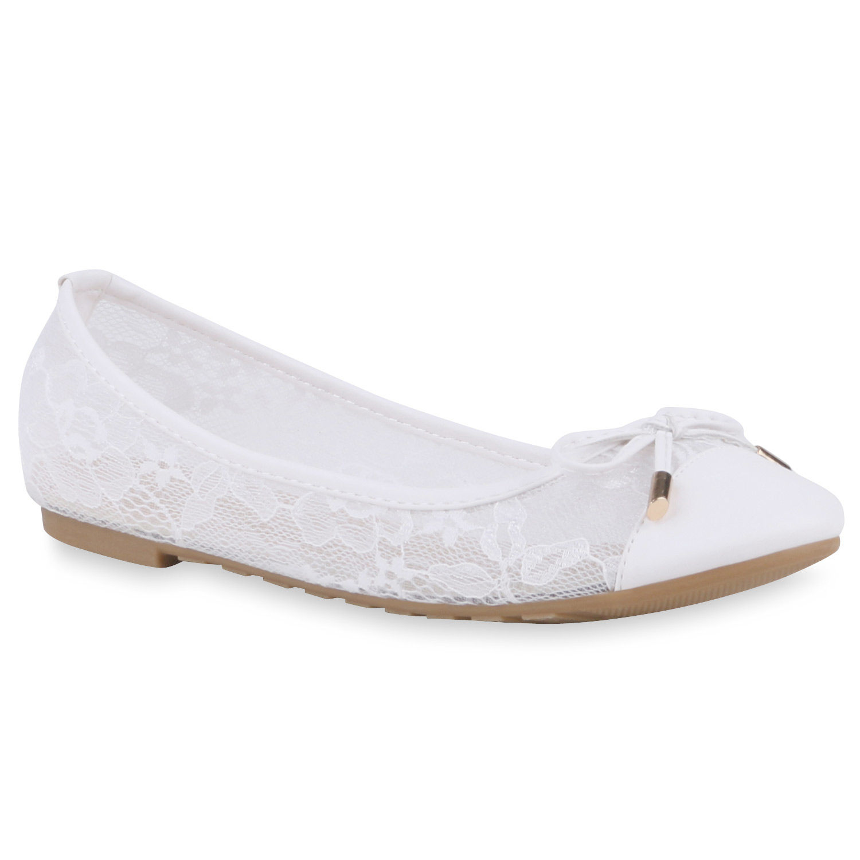 transparente damen ballerinas spitze slipper schuhe 74632. Black Bedroom Furniture Sets. Home Design Ideas