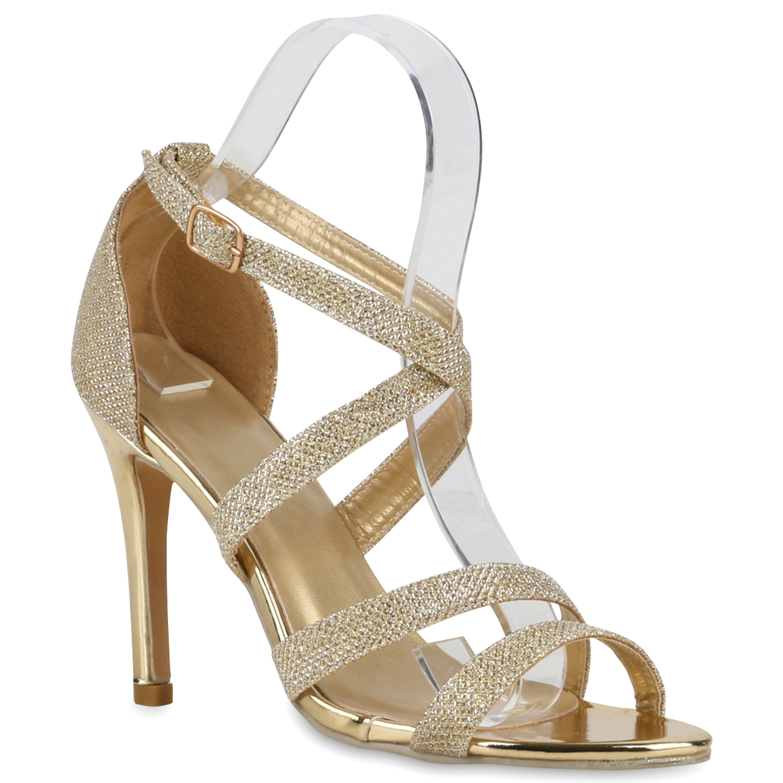 elegante high heels damen sandaletten party schuhe 890978. Black Bedroom Furniture Sets. Home Design Ideas