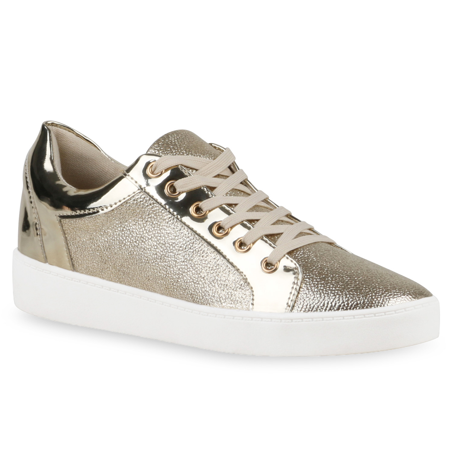 damen sneakers low glitzer wedges lack turnschuhe metallic. Black Bedroom Furniture Sets. Home Design Ideas
