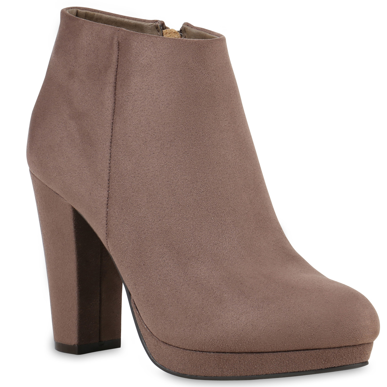 damen ankle boots plateau stiefeletten block absatz 811951. Black Bedroom Furniture Sets. Home Design Ideas