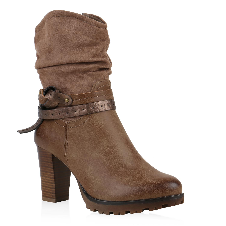 gef tterte damen cowboy boots profil sohle stiefeletten western 812164 ebay. Black Bedroom Furniture Sets. Home Design Ideas