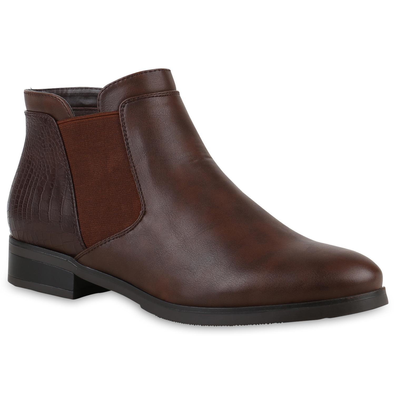 gef tterte damen chelsea boots kroko stiefeletten. Black Bedroom Furniture Sets. Home Design Ideas